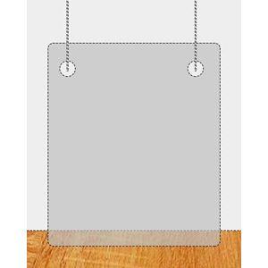 Plexiglas ophangscherm 1000 x 1000 mm (bxh) dikte 3 mm met gaatjes Ø5