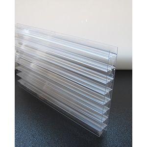 Polycarbonaat kanaalplaat helder uv-werend X-structuur dikte 16 mm
