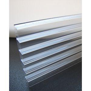 Polycarbonaat kanaalplaat helder uv-werend dikte 8 mm breedte 1250