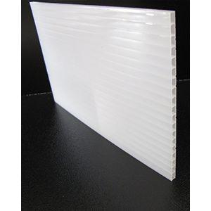Polycarbonaat kanaalplaat opaal uv-werend dikte 4 mm (uit breedte 2100 mm)