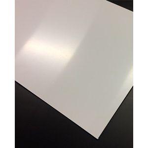 polystyreen (PS) plaat wit mat/mat massief 2000x1000x5mm