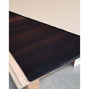 polystyreen (PS) plaat zwart mat/mat massief 2000x1000x3mm