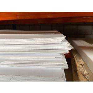 polystyreen (PS) plaat wit mat/mat massief 1000x1000x1mm