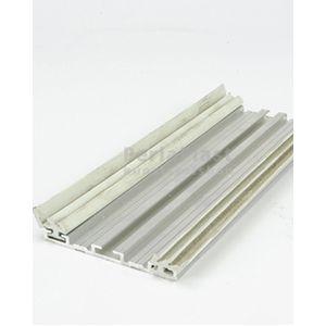 Universeel gerubberd klemprofiel aluminium inclusief oplegrubber