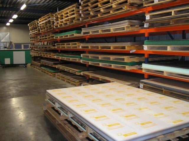 Opslag van kunststof platen staven en buizen