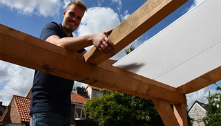 Overkapping Douglas hout bouwpakket