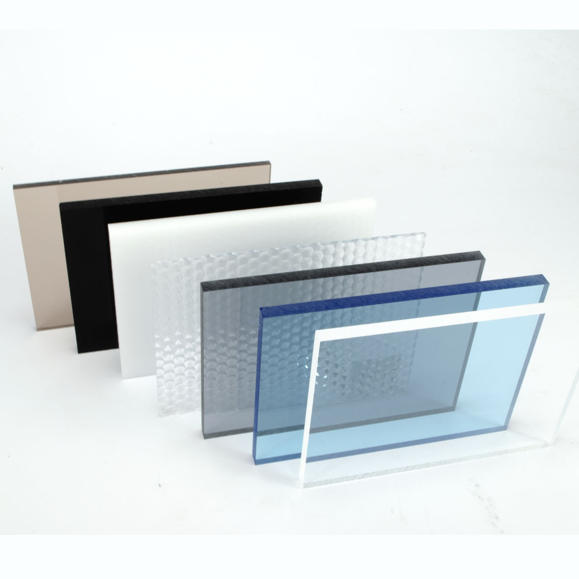 De verschillende soorten plexiglas platen