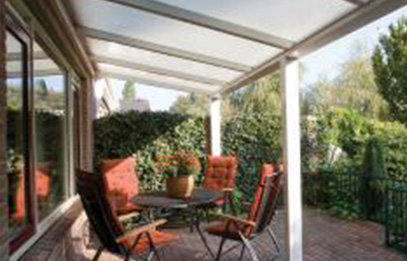 Terrasoverkapping, veranda dak of serre